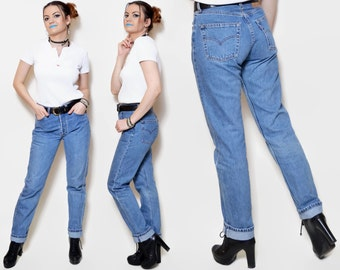 High waisted jeans levis jeans women belly bottoms denim pants for 90er outfit damen
