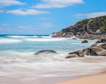 Beach Coastal Water Landscape Seascape Digital Download Canvas Print Wall Print Digital Fine Art Photography