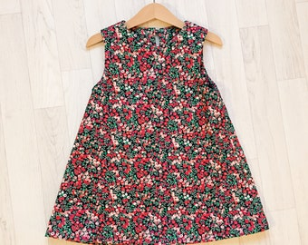 Ready to Ship!!!! ELLA (CORD) Handmade Liberty Print Sleeveless Needlecord Dress