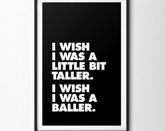SKEE-LO 'I Wish' Lyrics  **Printable**  Rap Hip-Hop Lyric Typography Print - 8x10 11x14 12x18 16x20 20x30 JPEGs ALL Sizes Included