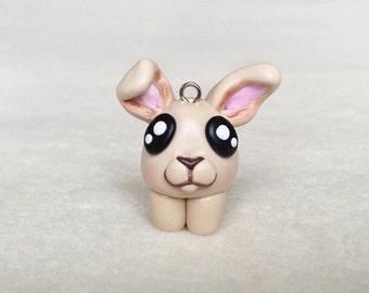Rabbit Necklace, Polymer Clay Rabbit, minimio Necklace, Handmade, OOAK, Gift Idea