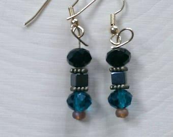 Evergreen Bicone Crystal Beaded Earrings