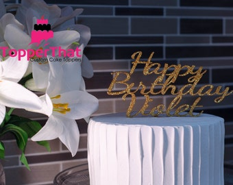 Personalized Happy Birthday Cake Topper