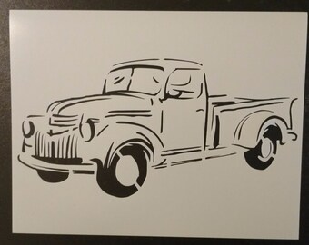 Old Vintage Truck #1 Custom Stencil FAST FREE SHIPPING