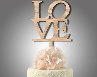 LOVE cake toppers for wedding, name cake topper, rustic wedding cake topper, personalised cake topper