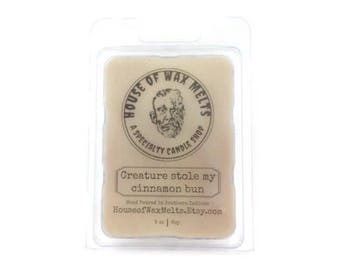 Creature Stole my Cinnamon Bun - Monster Squad Inspired - Cinnmon Buns Scented Wax Melts - Soy - 3 oz.