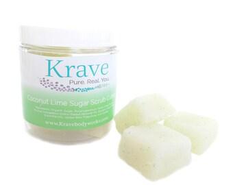 Coconut Lime Sugar Scrub cubes -  Body Scrub – Sugar Scrub - Skincare