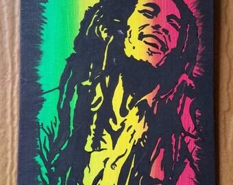 Bob Marley Acrylic Painting - 8X6Inch
