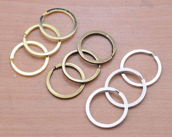 20Pcs gold Plated key ring,30mm Diameter Key ring Round key ring gold Split Key Ring,Round Split Key Ring Charm Connector