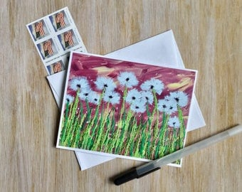Best Seller Dandelions- Modern Greeting Card - Best Selling Card - Blank Cards with Envelope - Stationery Set - Thank You Card - Birthday