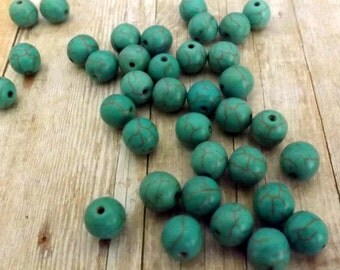 30pcs 8mm / Natural Gemstone Round Loose Beads Jewelry Making Finding