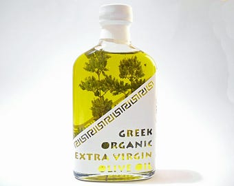 Greek Organic Extra Virgin Olive Oil Oregano Infused-  Cold Extraction - Superior Quality -  0,2lt / 6.8oz
