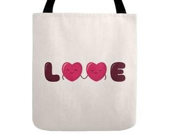 Love Tote Bag - Cute Doodles