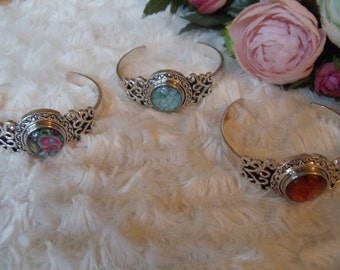 Statement bracelet wide hippie ethnic