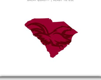 South Carolina Gamecocks Graphic - Gamecocks SVG - Digital Download - SVG file - Cut Files - DXF - Ready to Use!