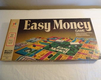 1974 Milton Bradley Easy Money Board Game Number 4620 Never Used
