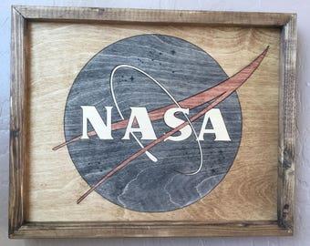 NASA Wooden Inlay Wall Art