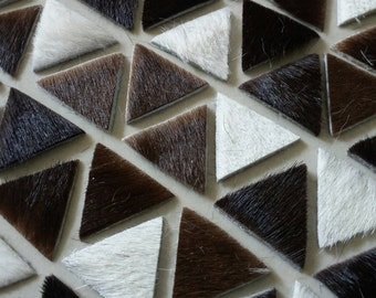 Hair on Cow Hide Leather Triangle, 20 mm.(2 cm.), Leather Triangle, Leather Triangle Die Cut, DIY Projects.