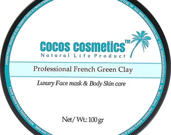 Mothers Day gift/ French green clay mask / facial green mask / Green Mask / Acne Clay Mask/ Cosmetique Argile Verde Masques/ Anti aging
