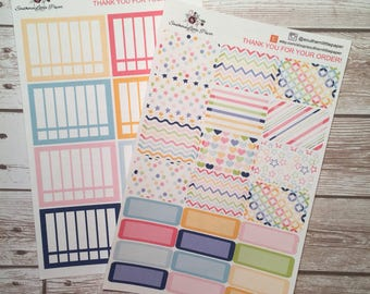 Preppy Stripes functional kit - planner stickers