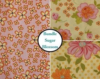 Bundle 4 prints, Sugar Blossom, Henry Glass, Bundle, 1 of each print