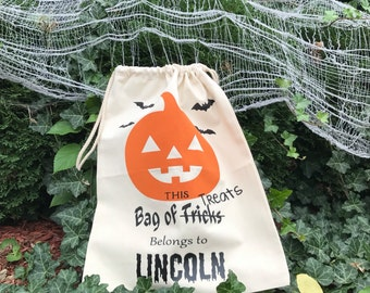 Halloween Treat bags, personalized halloween candy bags, Halloween loot bags, Halloween candy sacks, Trick or treat bags , Halloween, candy