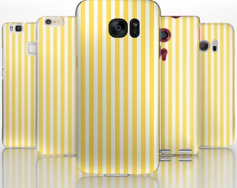 BG0091 Plastic hard case print, personalized/ custom/ personalised phone protective case yellow and white stripes