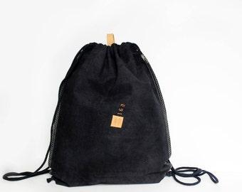 Leather bag | dark blue | Leather bag | plain