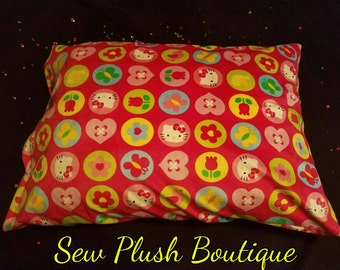 Hello Kitty Pillowcase, Super Soft Pillowcase, Sew Plush, Room Decor, Polyester Pillowcase, Hello Kitty,