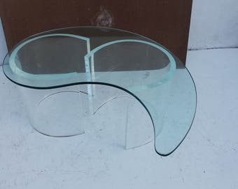 Vintage Hollywood  Regency Sculptural Coffee Table .