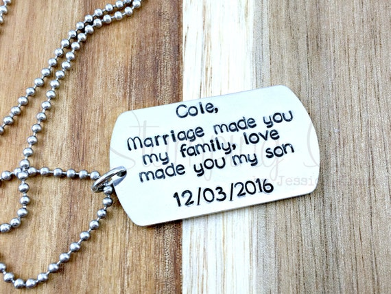 Wedding Gift Ideas For Stepson : ... Step Son Wedding Gift Step Son Step Son Necklace Wedding Gift