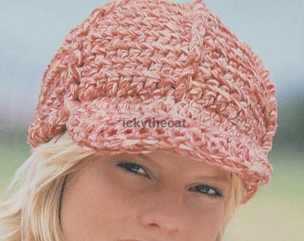 vintage crochet pattern womens pill box hat and