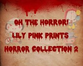 Horror Collection 2 Stickers - Perfect for Erin Condren Life Planners / Journals / Stickers.