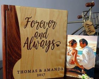 Wedding photo album, Personalized photo album, Custom Photo Album, Wood photo album, Wedding gift, Howsewarming gift  - 108B design