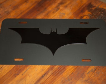Batman - The Dark Knight License Plate - Blacked Out