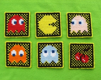 Pattern ONLY!- Pacman Coaster Set