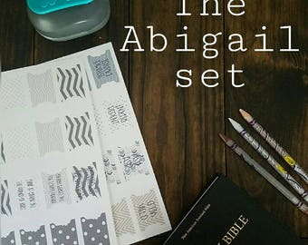 The Abigail Set. Printable prayer bible tabs. Bible journaling and bible study