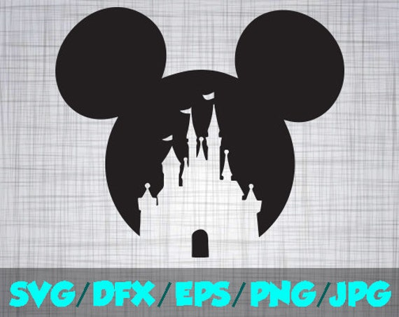 Disney Castle Iron On Decal Cutting File Clipart In Svg