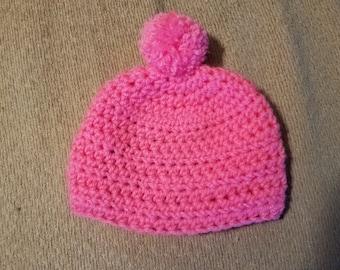 Newborn pink hat