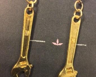 Mini Tool Wrench Earrings