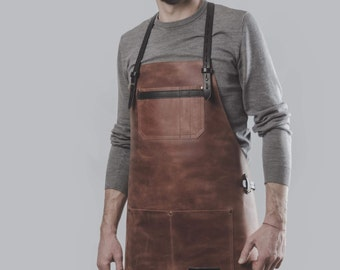 Leather apron by Kruk Garage Work apron Barista apron Barber apron leather apron Work apron Mens gift FREE PERSONALIZATION FREE shipping