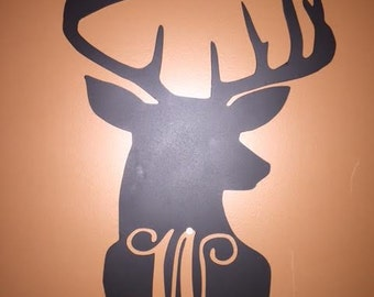 Monogram deer silhouette