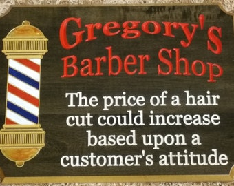 Wood Barber Shop Decor- Barber Shop Sign- Barber Gift-Barber Shop Art