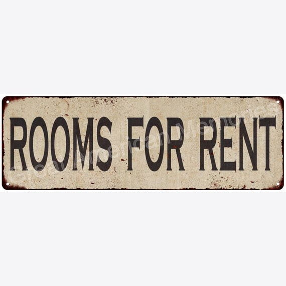 For Rent Sites: Rooms For Rent Vintage Look Reproduction Metal Sign 6x18