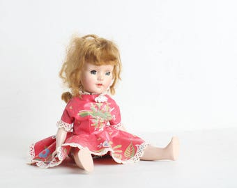Vintage Doll, Very Old Baby Doll Toy