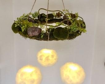Succulent Dream Cloud Light Mobile with remote control