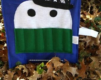 Stocking Stuffer for Kids, Coloring Book Holder, Christmas Gift Idea, Crayon Roll, Crayon Bag, Crayon Organizer, Kids Travel Bag, Kids Gift