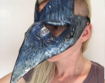 Paper mache bird Mask / crow / rook / raven