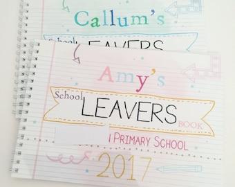 Personalised school leavers memory note book