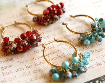 Vintage Chinese Cloisonne Hoops // New Old Stock // NOS // Choose Your Color // Hoop Earrings // Cloisonne Jewelry // Vintage Hoop Earrings